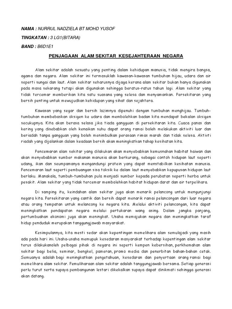 Soalan Karangan Pencemaran Alam Sekitar Terengganu T