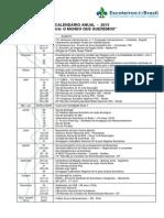 Calendário Nacional UEB 2013