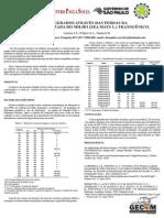 Perdas nos mecanismos de plataforma de colhedora de cereais e custos gerados pelas perdas