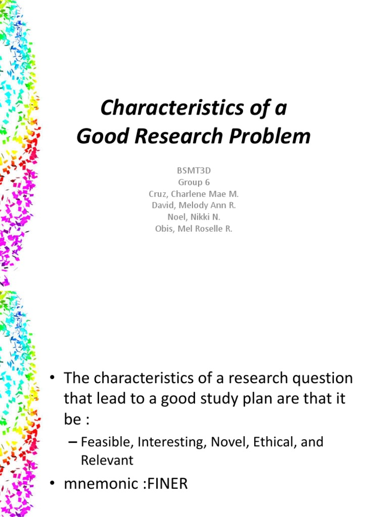 good research problem