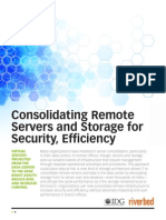 AST-0131974 Consolidating Remote Servers and Storage for Security Efficiency