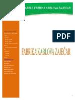 Fabrika Kablova Zajecar Proizvodni Program