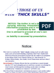 For Those Of Us With Thick Skulls by Paul-Ben