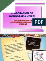 Elaboracion de Monografia- Coordinacion Dires