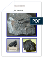 Principales Minerales de Cobre