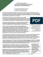 Oregon Crowdfunding Law Statement 2014