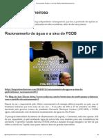 Racionamento de Água e a Sina Do PSDB _ Bloglimpinhoecheiroso