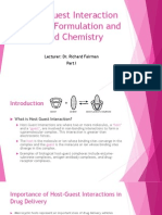 Drug Formulation and Food Chemistry