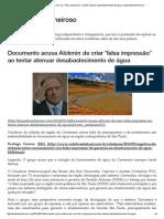 """Documento Acusa Alckmin de Criar """"Falsa Impressão"""" Ao Tentar Atenuar Desabastecimento de Água _ Bloglimpinhoecheiroso"""