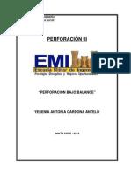 Perforación Bajo Balance (Informe Final)