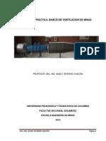 Practica Laboratorio de Ventilacion de Minas