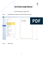 Network Printer Usage Manual