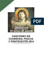Cancionero de Cuaresma y Pascua 2014. Con Acordes