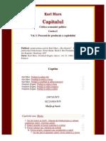 Karl Marx - Capitalul Vol I