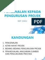 Nota pengurusan projek