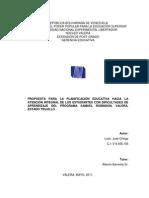 PROPUESTA PARA LA PLANIFICACIÓN EDUCATIVA HACIA LA ATENCIÓN INTEGRAL DE LOS ESTUDIANTES CON DIFICULTADES DE APRENDIZAJE