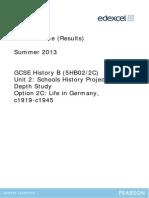 5HB02 Mark Scheme 2013