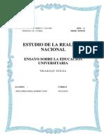 ENSAYO EDUCACIÓN UNIVERSITARIA