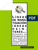 Líneas Investigación 2013