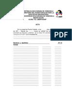 Acta de Censo El Fortin