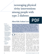 Encouraging Physical Activity Interventions Among People With Type 2 Diabetes