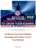 10 Ways to Use Secret Political Strategies and Tactics to Grow Your Business