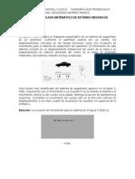 Ejemplos de Modelado Matemático de Sistemas Mecánicos