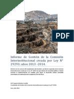 Informe Gestión 2013-2014