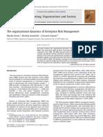 Arena_The Organizational Dynamics of Enterprise Risk Management