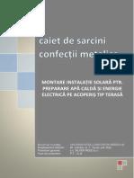 Caiet de Sarcini Structura Metalica