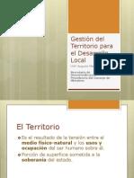 Gestión Local del Desarrollo Territorial