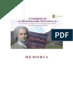 Memorias del X Congreso de Investigación Educativa CIIEEG 2014