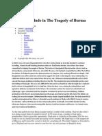 A Brief Interlude in the Tragedy of Burma