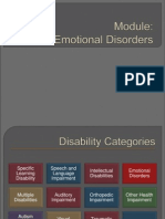 presentation emotional disorders