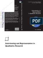 Schostak, J. (2006). Interviewing and Representation in Qualitative Research.pdf