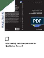 Schostak, J. (2006). Interviewing and Representation in Qualitative Research.pdf