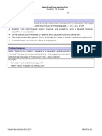 MindTree Programming Sample Paper-2011