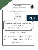 التسيير الاستراتيجي في المؤسسات الصغيرة والمتوسطة بالجزائر واقعه أهميته وشروط تطبيقه محمد رشدي سلطاني