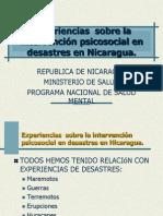 Experiencias Sobre La Intervención Psicosocial en Desastres A_o 2004