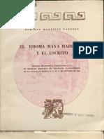 Martínez Paredes, Domingo (1967) El idioma maya hablado y el escrito