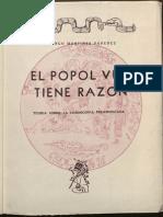 Martínez Paredes, Domingo (1968) El Popol Vuh tiene razón