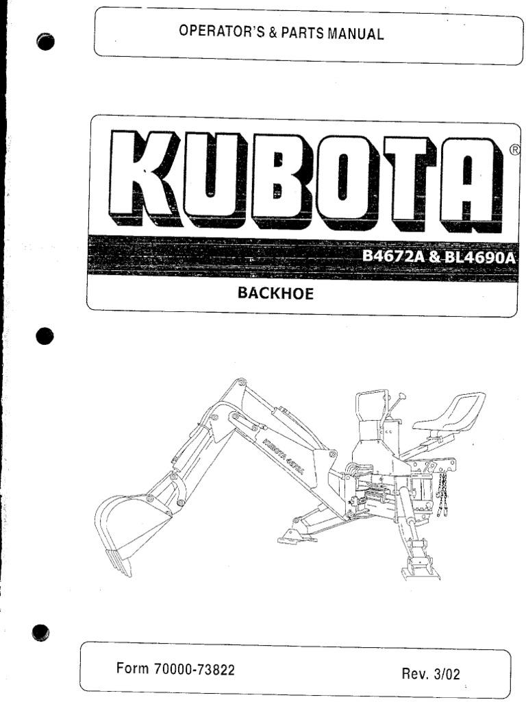 Kubota b4672a Bl4690a