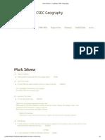 Mark Scheme - Caribbean CSEC Geography