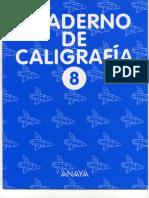 Cuaderno Caligrafia Anaya 8