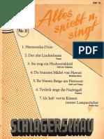 Schlagerschau Nr11 - Songbook