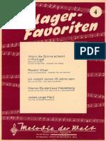 Schlager Favoriten Nr04 Songbook