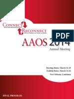 AAOS Final Program 2014
