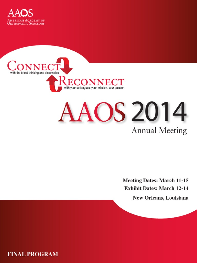 Aaos final program 2014 orthopedic surgery food and drug aaos final program 2014 orthopedic surgery food and drug administration fandeluxe Image collections