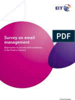 Email Survey Report FINAL