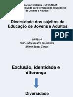 Diversidade Dos Sujeitos Da Educação de Jovens e